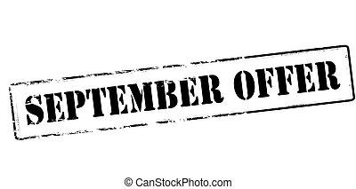 setembro, oferta