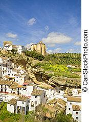 Setenil de las Bodegas, Andalusian village of Cadiz, Spain