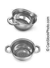 Seth colander isolated on white background, side view and...