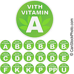 """Seth of stickers """"with vitamin"""""""