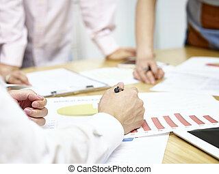 setkání, business úřadovna, národ