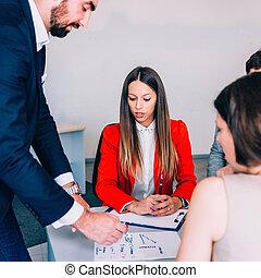 setkání, business úřadovna