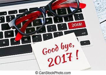setkání, nový rok, 2018, pojem