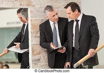 setkání, schody, povolání