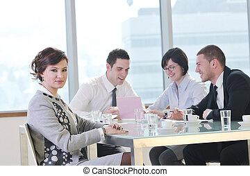 setkání, skupina, business národ