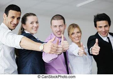 setkání, skupina, mládě, business národ