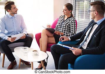 setkání, tři, business národ