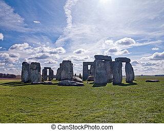 seto, piedra, cielo, claro, debajo