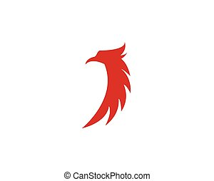 Sets of Phoenix logo design template. Vector Illustration