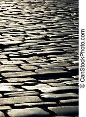 sett, pierre, lignes, texture