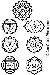 sette, chakras