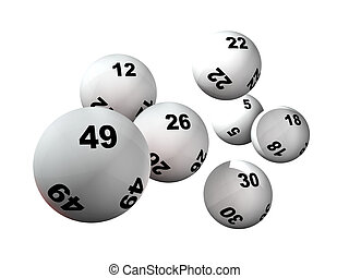 sette, palle, lotteria