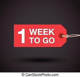 settimana, andare, uno, segno