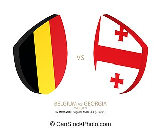 settimana, georgia, rugby, campionato, 3, vs, 2019, belgio