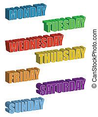 settimana, giorni