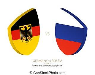 settimana, rugby, campionato, 3, vs, 2019, germania, russia