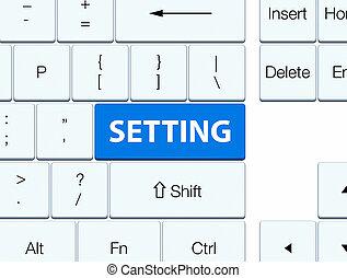 Setting blue keyboard button