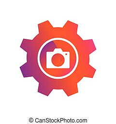 setting camera picture button vector icon