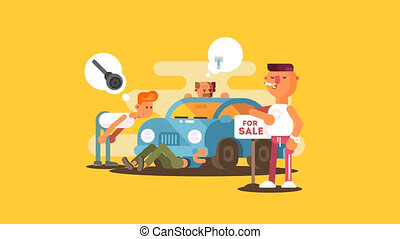 Setting car for sale animation - Setting car for sale....