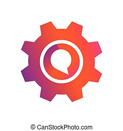 setting chat bubble button vector icon
