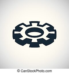 setting gear icon. for web and UI on white background