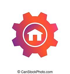 setting home button vector icon