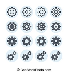 Setting gear interface web icon set