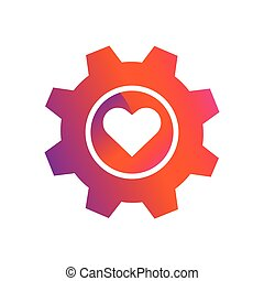 setting love button vector icon