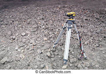 Setting out on construction site - geodesy - Land-surveying ...