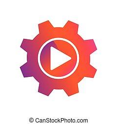 setting play button vector icon