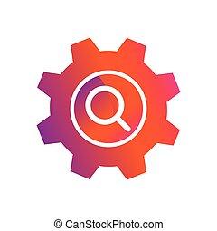 setting search button vector icon