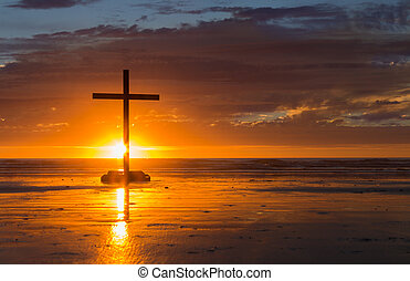 Setting Sun Cross