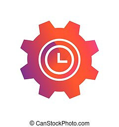 setting time button vector icon