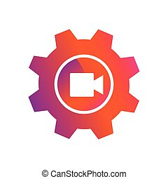 setting video record button vector icon