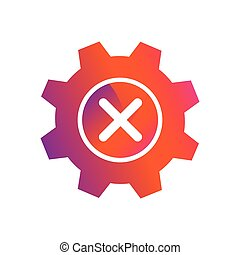 setting x delete button vector icon