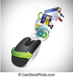 settings and Wireless computer mouse