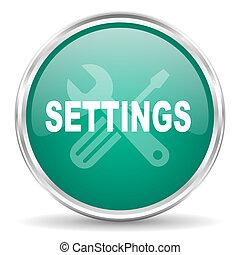 settings blue glossy circle web icon