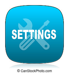 settings blue icon