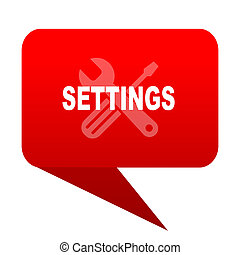 settings bubble red icon