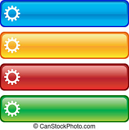 Settings buttons. - . Settings glossy buttons. Vector ...