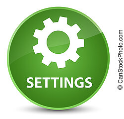 Settings elegant soft green round button