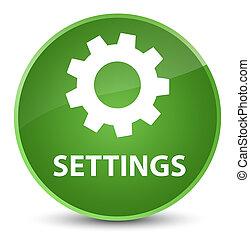 Settings elegant soft green round button