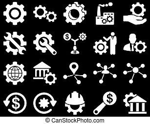 settings, eszközök, ikonok