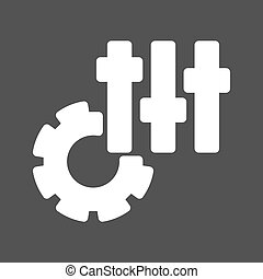 Settings - Game, settings, options icon vector image. Can...