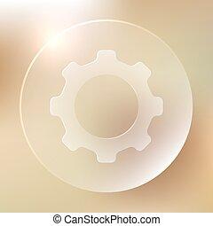 Settings Glassy Icon