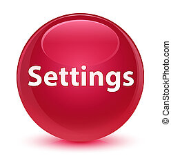 Settings glassy pink round button