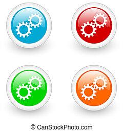 settings glossy icon