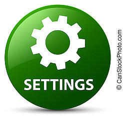 Settings green round button