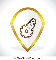 Settings Icon Design Stock Vector