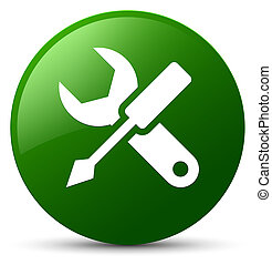 Settings icon green round button